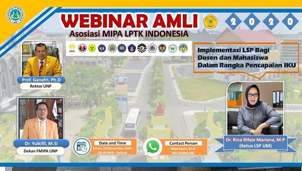 Webinar AMLI LPTK in November 2020