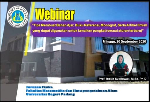 Webinar Workshop Jurusan Fisika